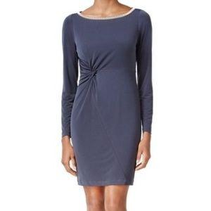 NWT Jessica Simpson Blue Gray BodyCon Mini Dress 4
